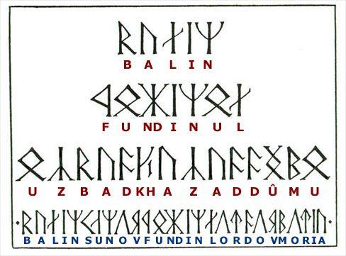 Runas Uruk  O Senhor dos Anéis