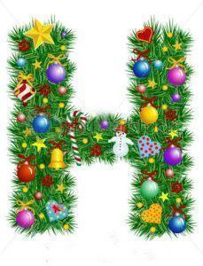 stock-vector-letter-h-christmas-tree-decoration-alphabet-7021198