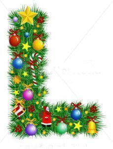 stock-vector-letter-l-christmas-tree-decoration-alphabet-7021210