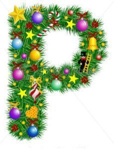stock-vector-letter-p-christmas-tree-decoration-part-of-a-full-set-alphabet-7027603