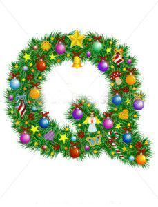 stock-vector-letter-q-christmas-tree-decoration-alphabet-7027606