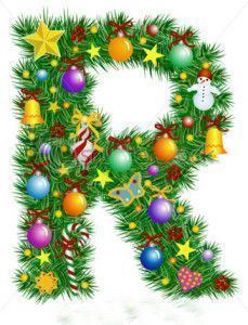 stock-vector-letter-r-christmas-tree-decoration-part-of-a-full-set-alphabet-7027609