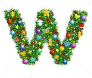 stock-vector-letter-w-christmas-decoration-part-of-a-full-set-alphabet-7027621