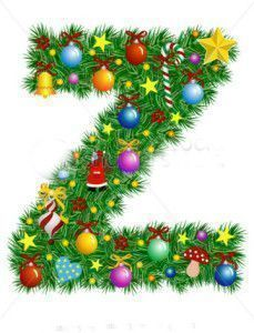stock-vector-letter-z-christmas-tree-decoration-alphabet-7103626