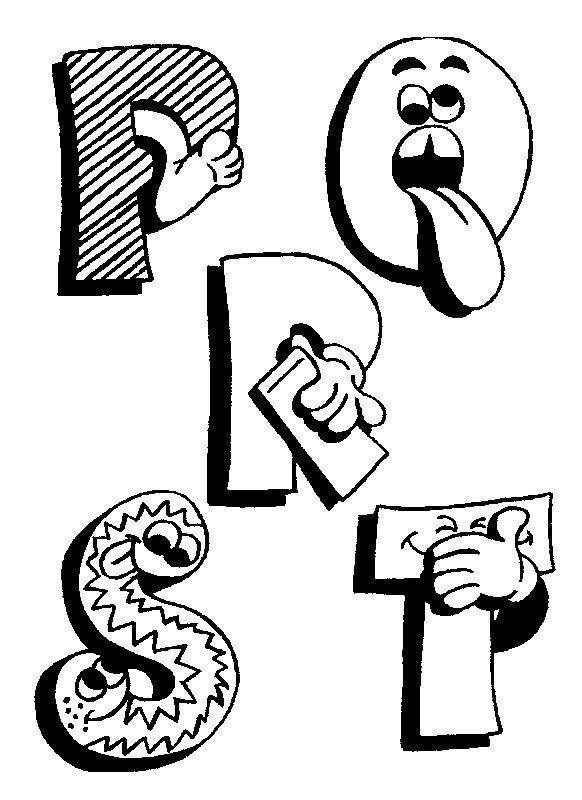 Moldes letras engra adas - Alphabet rigolo a colorier ...