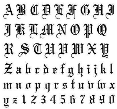 Moldes de letras góticas | Moldes de letras