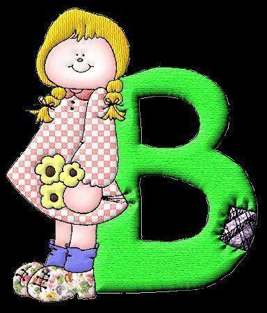 molde de letra b