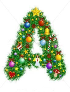 stock-vector-letter-a-christmas-tree-decoration-alphabet-6991009