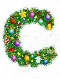 stock-vector-letter-c-christmas-tree-decoration-alphabet-6991012
