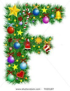 stock-vector-letter-f-christmas-tree-decoration-alphabet-7020187