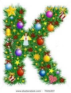 stock-vector-letter-k-christmas-tree-decoration-alphabet-7021207
