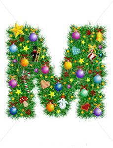 stock-vector-letter-m-christmas-tree-decoration-alphabet-7021213