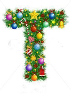 stock-vector-letter-t-christmas-tree-decoration-part-of-a-full-set-alphabet-7027615