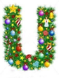 stock-vector-letter-u-christmas-tree-decoration-alphabet-7027618