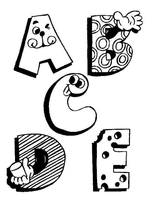 moldes letras engraçadas