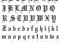 Moldes de letras góticas