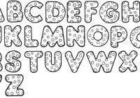 moldes de letras para artesanato