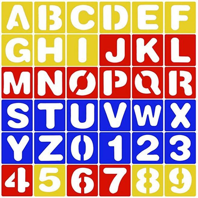 Plantillas de plastico de letras